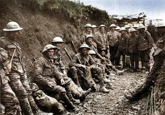 Irish Soldiers On The Fi... is listed (or ranked) 1 on the list Haunting Colorized Photos Of WWI