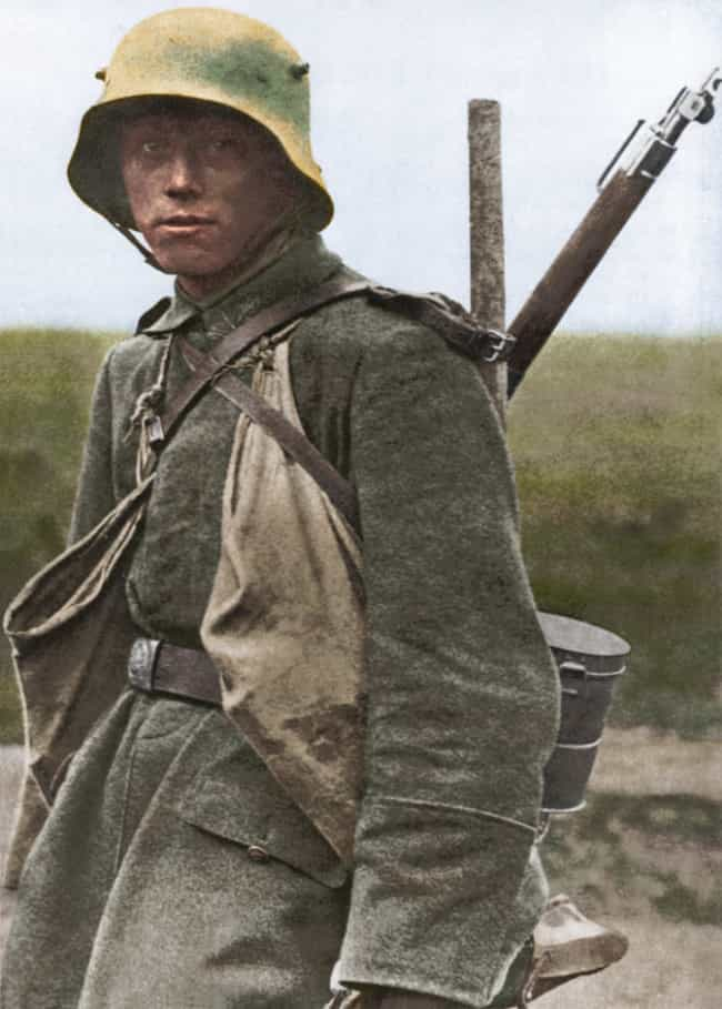 German Stormtrooper Some... is listed (or ranked) 3 on the list Haunting Colorized Photos Of WWI