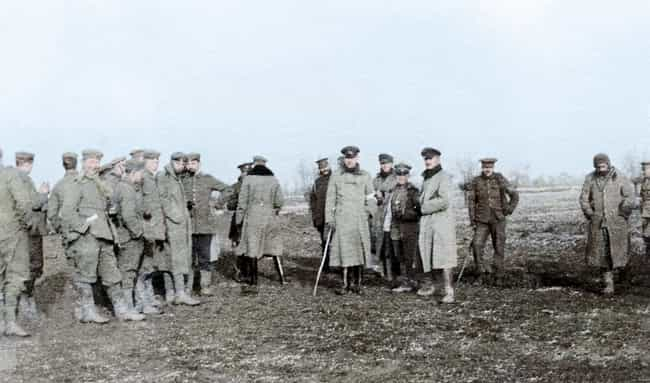 German And British Soldi... is listed (or ranked) 4 on the list Haunting Colorized Photos Of WWI