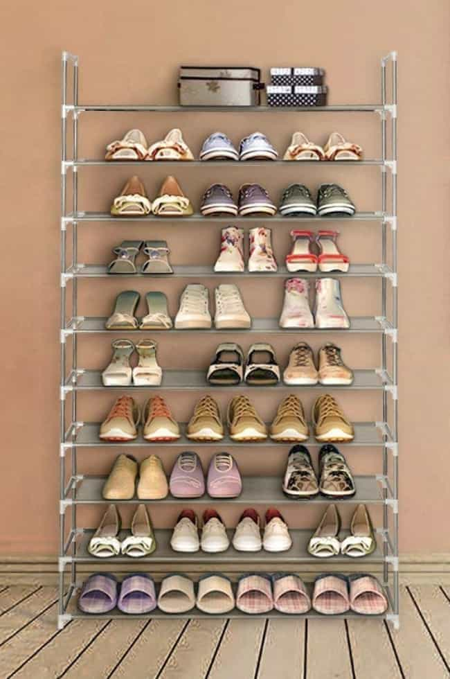 Shoes Racks To Corral Yo... is listed (or ranked) 2 on the list All The Products You Need If You Want To Declutter Your Home Like Marie Kondo