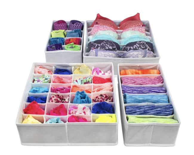 Foldable Drawer Organize... is listed (or ranked) 1 on the list All The Products You Need If You Want To Declutter Your Home Like Marie Kondo