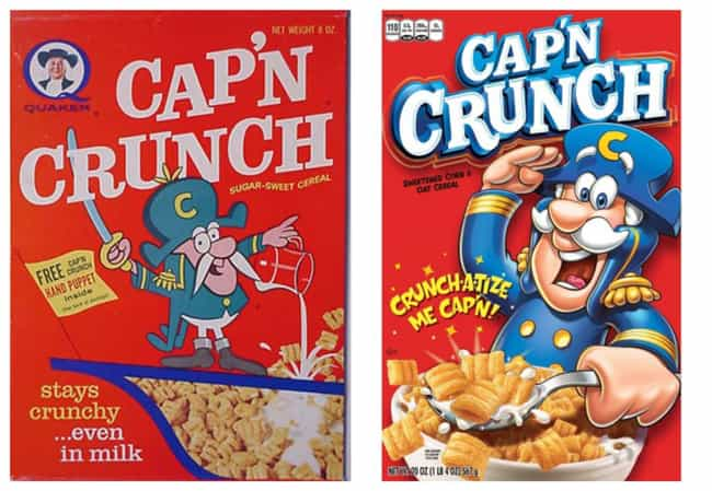 Cap'n Crunch, 1960s Vs. 2019 is listed (or ranked) 3 on the list How Cereal Boxes Have Changed Over Time