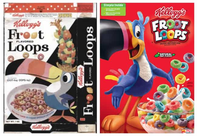 Froot Loops, 1963 Vs. 2019 is listed (or ranked) 1 on the list How Cereal Boxes Have Changed Over Time