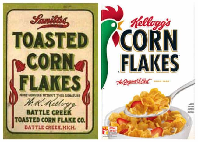 Corn Flakes, 1906 Vs. 2019 is listed (or ranked) 4 on the list How Cereal Boxes Have Changed Over Time