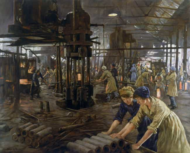 The Munitions Girls is listed (or ranked) 1 on the list The Best WWI Paintings