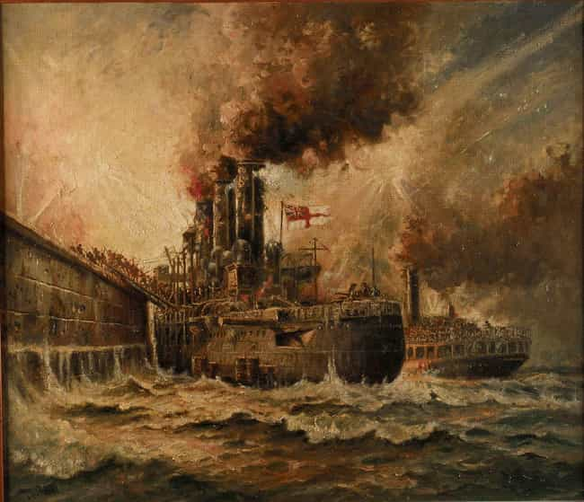 HMS 'Vindictive' At Zeeb... is listed (or ranked) 3 on the list The Best WWI Paintings