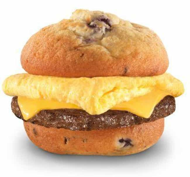 Carl's Jr.'s Blueberry Muffin ... is listed (or ranked) 2 on the list Discontinued Fast Food Breakfast Items You Forgot About
