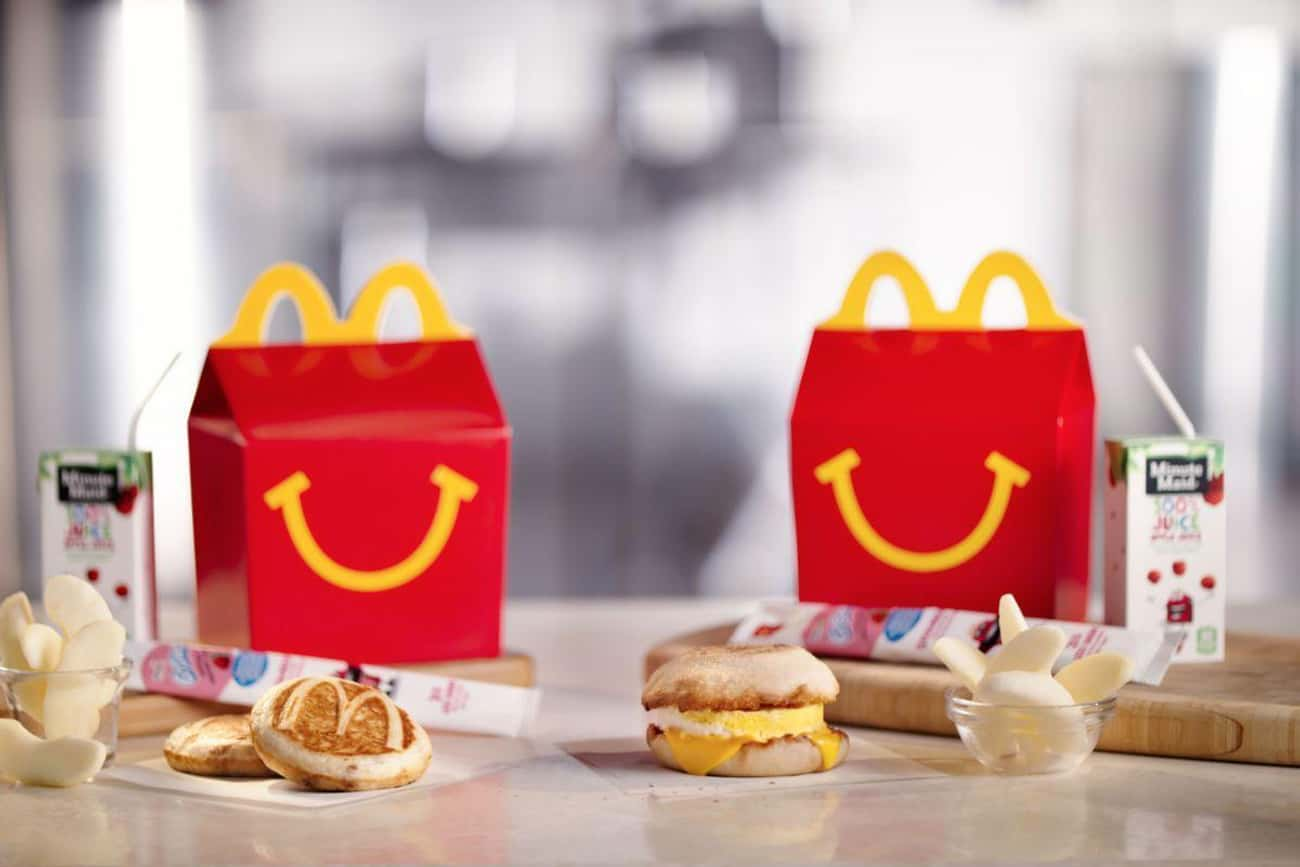 McDonald's Happy Meal Breakfas is listed (or ranked) 1 on the list Discontinued Fast Food Breakfast Items You Forgot About
