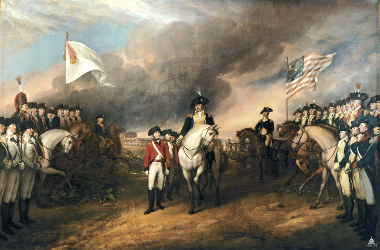 Surrender Of Lord Cornwallis is listed (or ranked) 4 on the list The Best American Revolution Paintings
