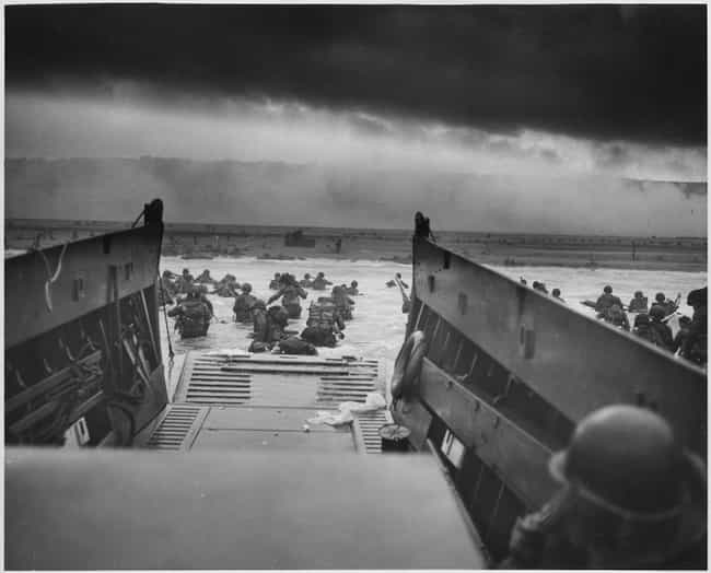 June 6, 1944: Men Storming The... is listed (or ranked) 2 on the list Haunting Combat Photography From World War II
