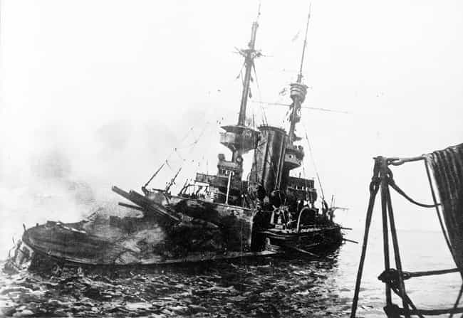 HMS 'Irresistible' Abandoned A... is listed (or ranked) 4 on the list Haunting Combat Photography From WWI