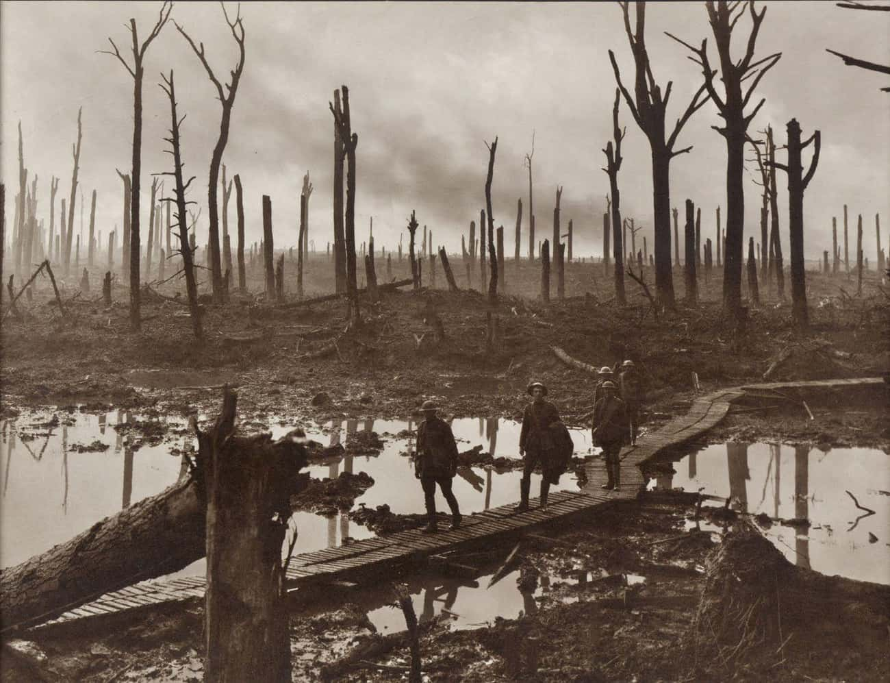 Australian Brigade Passing Thr is listed (or ranked) 1 on the list Haunting Combat Photography From WWI