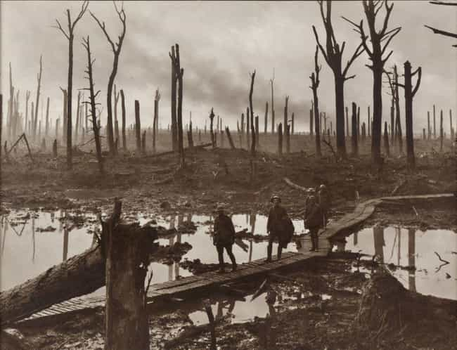 Australian Brigade Passing Thr... is listed (or ranked) 1 on the list Haunting Combat Photography From WWI