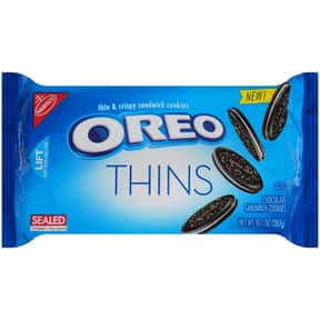 Oreo Thins is listed (or ranked) 16 on the list The Best Oreo Flavors