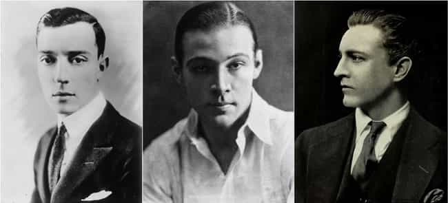 1920s: Buster Keaton, Rudolph ... is listed (or ranked) 3 on the list Here's What 'Leading Men' Looked Like In Every Decade Of The 20th Century