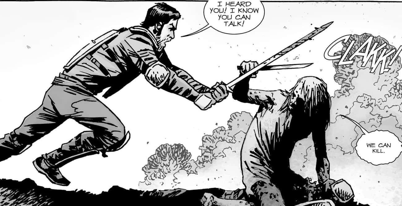 Her Followers Will Risk Their  is listed (or ranked) 4 on the list Why Alpha Is The Best Villain In 'The Walking Dead'