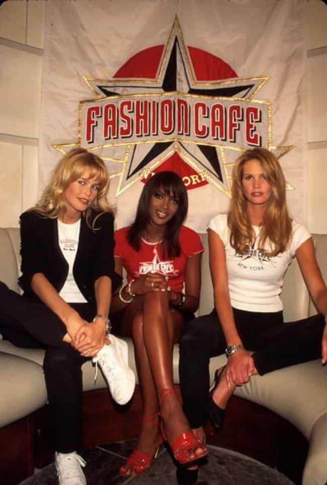 Fashion Cafe Was The Bra... is listed (or ranked) 3 on the list Fashion Cafe Was Planet Hollywood For The Modeling World - And It Was A Huge Flop