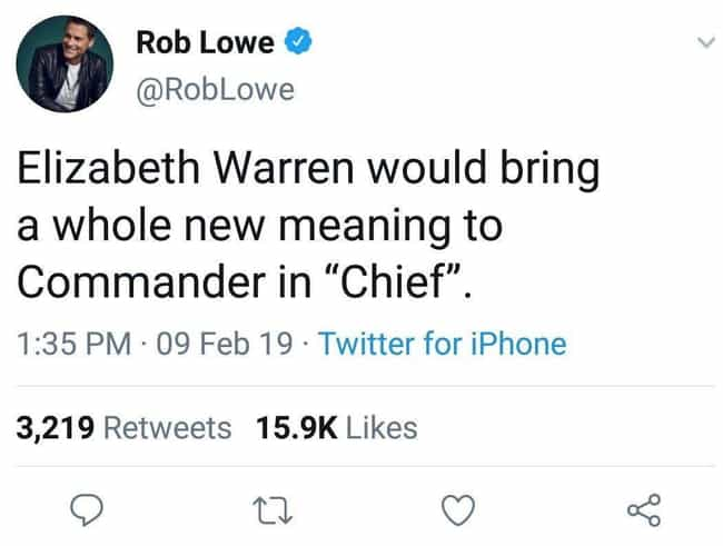 Rob Lowe Deletes Tweet About E... is listed (or ranked) 4 on the list 2019 Controversial Tweets That Were Quickly Deleted