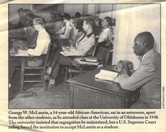 George McLaurin,The First Afr... is listed (or ranked) 1 on the list Haunting Photos That Show The Dark Side Of History