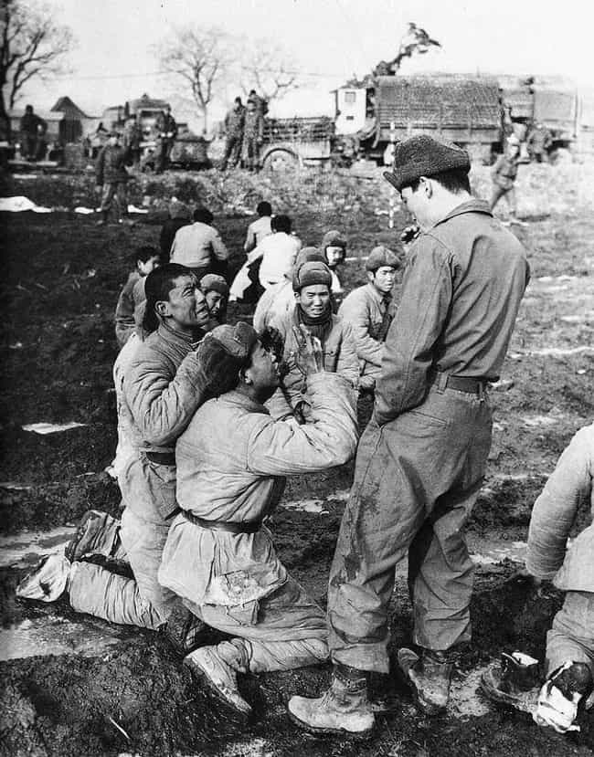 Chinese Soldiers Beg A Korean ... is listed (or ranked) 3 on the list Haunting Photos That Show The Dark Side Of History