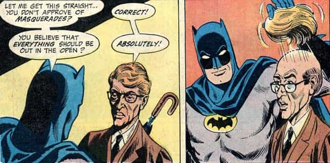Hello Toupee is listed (or ranked) 1 on the list 14 Times Batman Actually Cracked A Joke