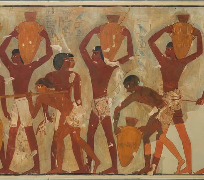 The Egyptians Both Produced An... is listed (or ranked) 4 on the list What Did The Ancient Egyptians Actually Eat?