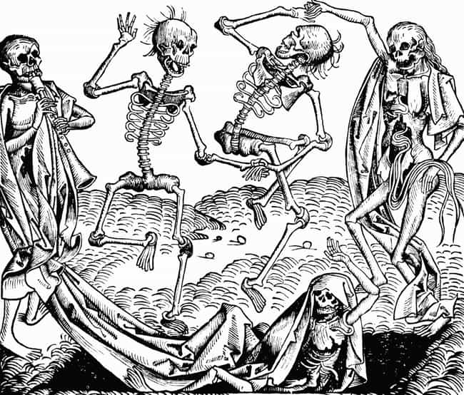 'Dance Of Death,' Unknow... is listed (or ranked) 4 on the list Extremely Metal Plague Art You Weren't Shown In History Class
