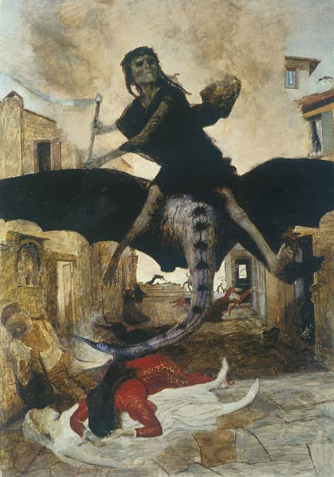 'The Plague,' Arnold Böcklin, ... is listed (or ranked) 2 on the list Extremely Metal Plague Art You Weren't Shown In History Class