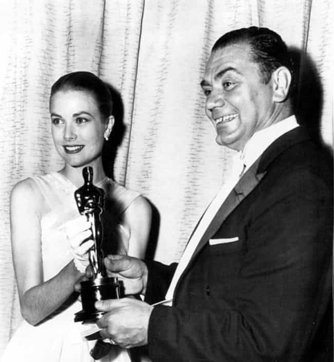 Ernest Borgnine Receives An Aw... is listed (or ranked) 5 on the list Photos Of Old Hollywood Stars At The Oscars