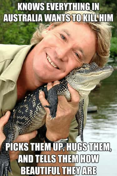 He Made Everyone Feel Beautifu is listed (or ranked) 2 on the list Wholesome Steve Irwin Memes That Prove He Was Too Good For This World