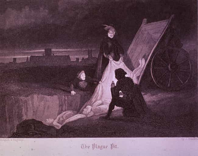 'The Plague Pit,' J. Franklin,... is listed (or ranked) 4 on the list Extremely Metal Plague Art You Weren't Shown In History Class
