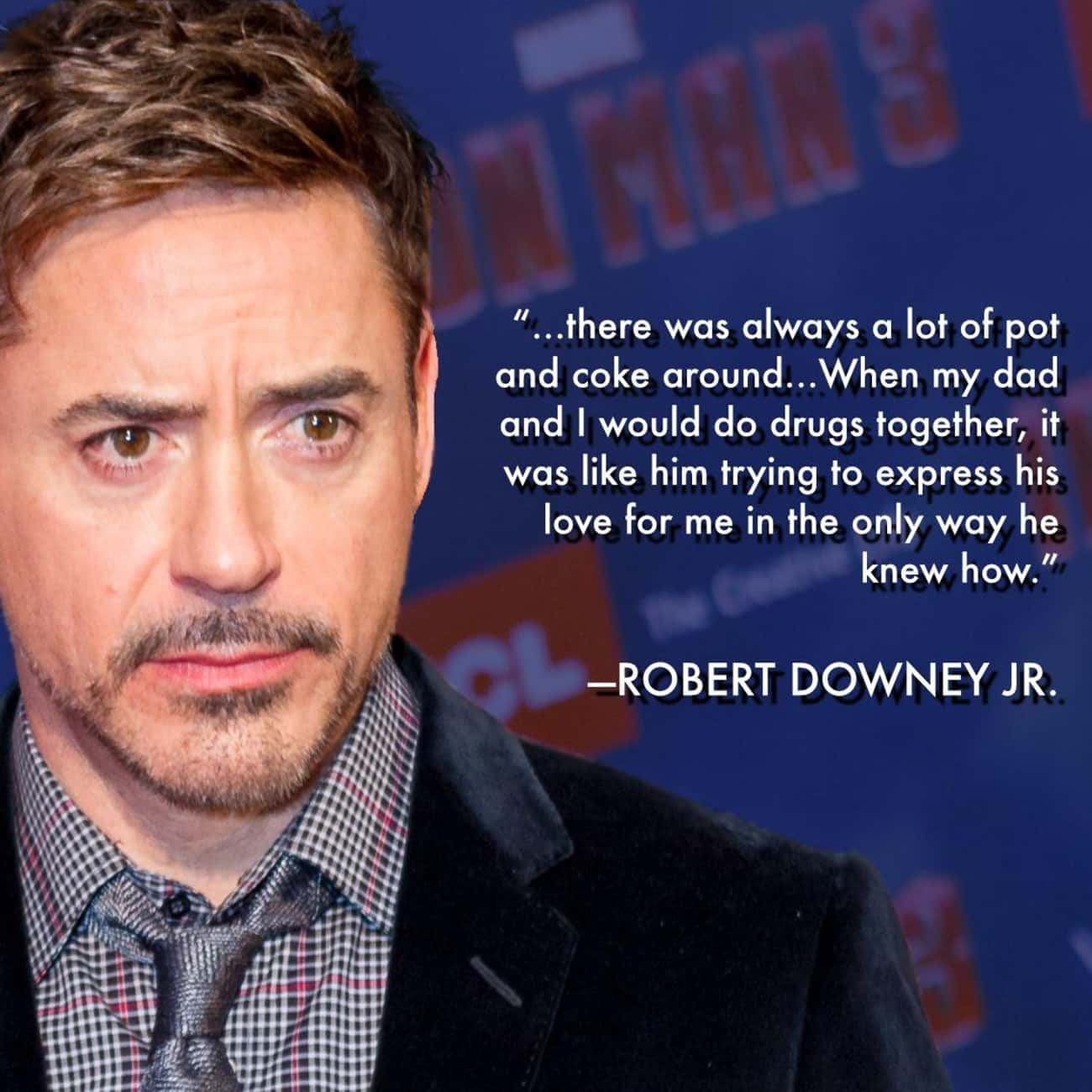 RDJ's History With Substances Began With His Father