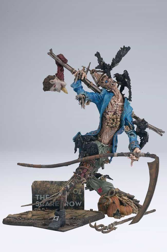 Scarecrow is listed (or ranked) 4 on the list The Most Messed Up McFarlane Toys Ever