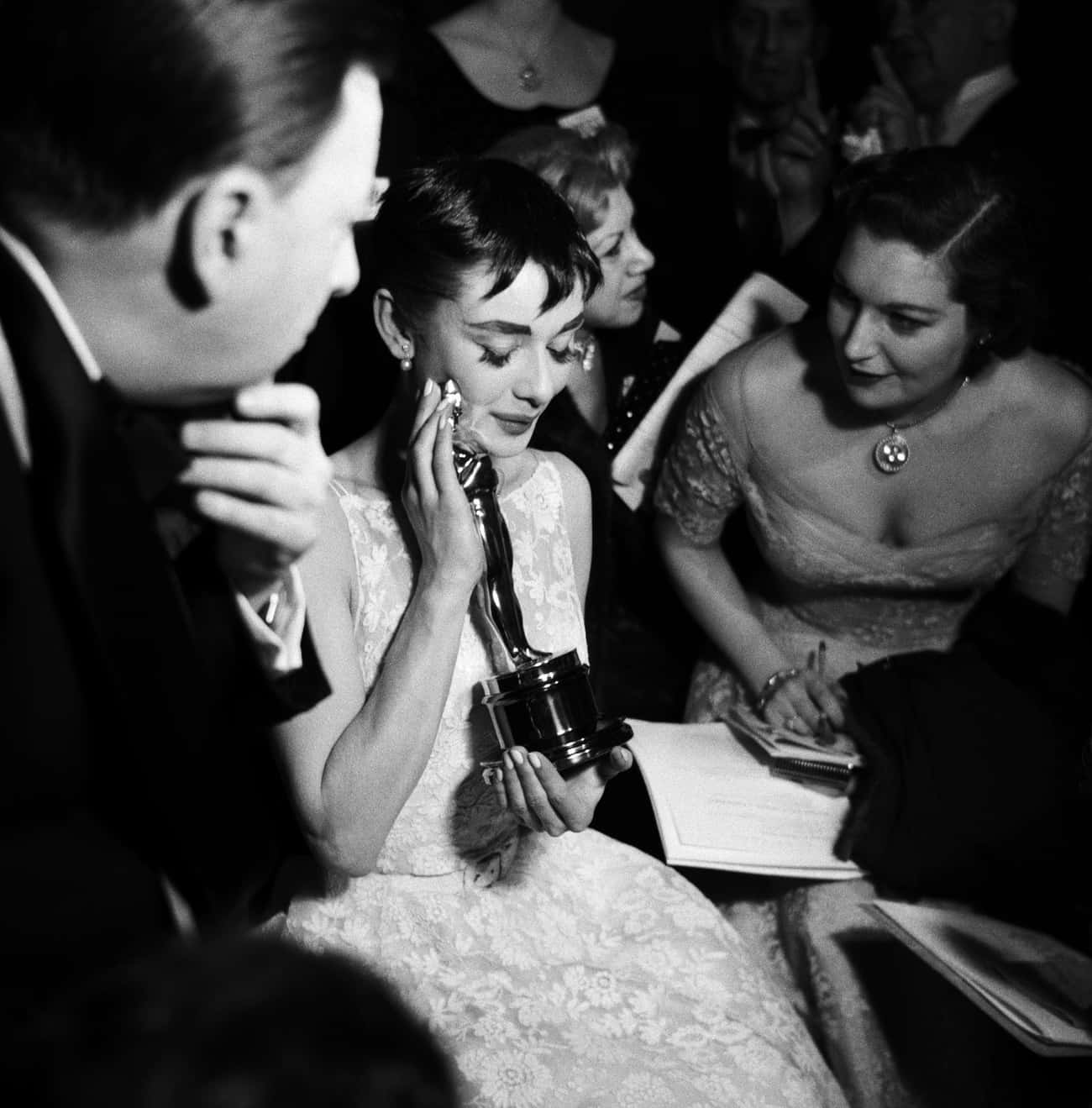 Audrey Hepburn, 1954 is listed (or ranked) 2 on the list How Hollywood Royalty Looked At The Oscars Over The Decades