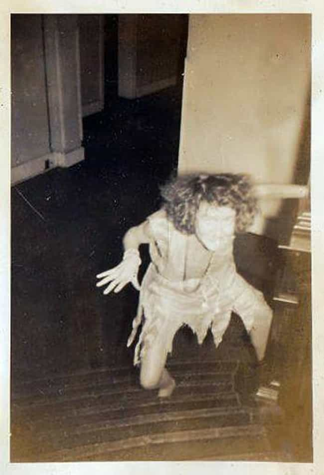 Creepy Woman Climbs The Stairs is listed (or ranked) 1 on the list 45 Photos That Will Creep You Out But You Won't Understand Why