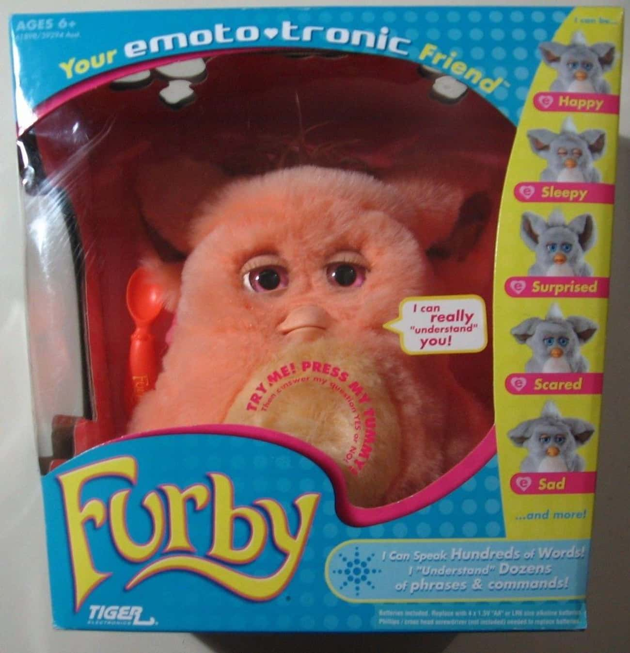 Orange With Pink Eyes Emototro is listed (or ranked) 2 on the list Furbies That Are Worth A Ton Of Money Now