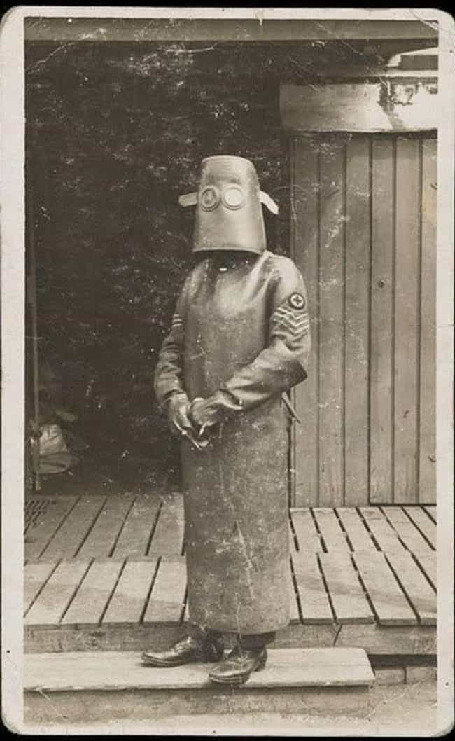 A Radiology Nurse In Protective Gear, 1918