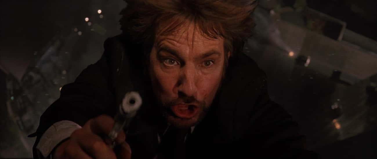 Rickman's Horrified Reaction A is listed (or ranked) 1 on the list Behind The Scenes Of Alan Rickman's Defining Role: Hans Gruber