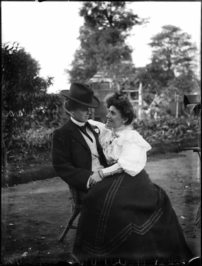 Couple Seated In A Garden, Cir... is listed (or ranked) 4 on the list Photos Of Adorable 19th-Century Couples