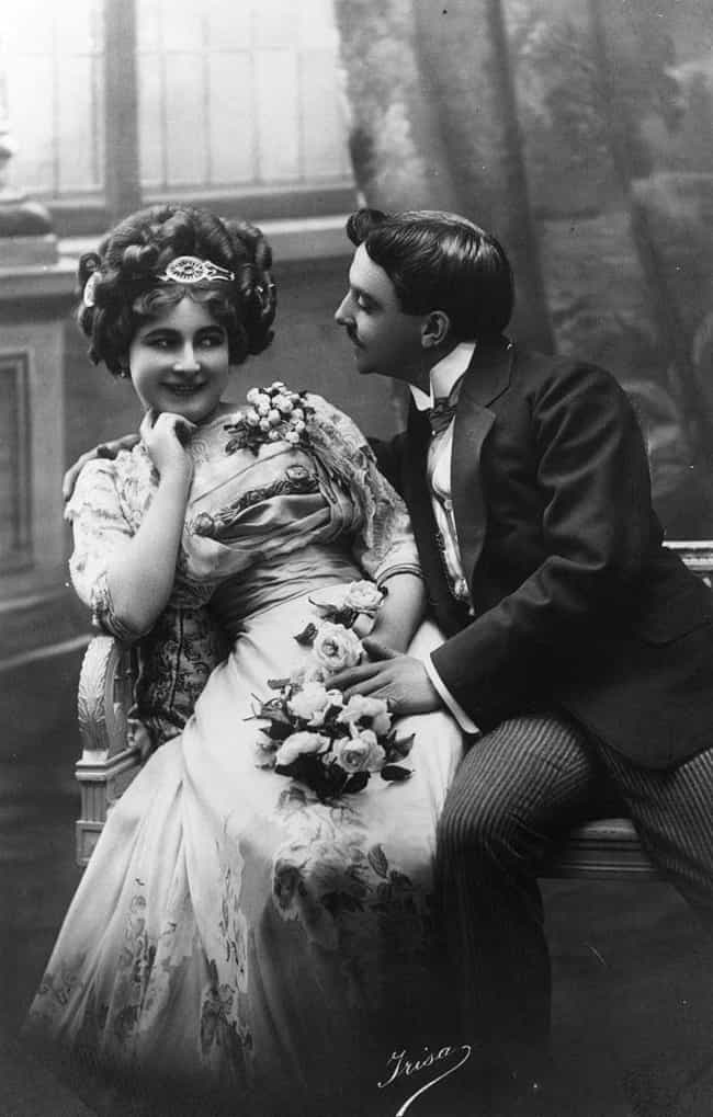 A Courting Victorian Couple Fa... is listed (or ranked) 3 on the list Photos Of Adorable 19th-Century Couples