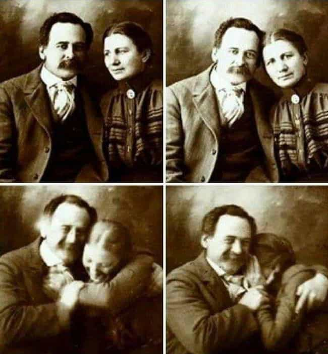 Victorian Couple Trying Not To... is listed (or ranked) 1 on the list Photos Of Adorable 19th-Century Couples