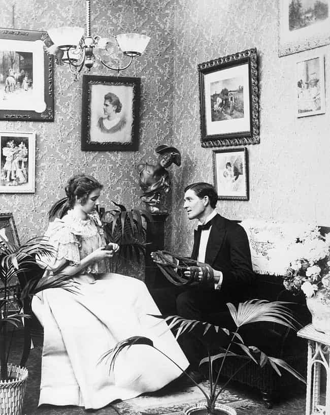 Victorian Couple Knitting Alon... is listed (or ranked) 2 on the list Photos Of Adorable 19th-Century Couples