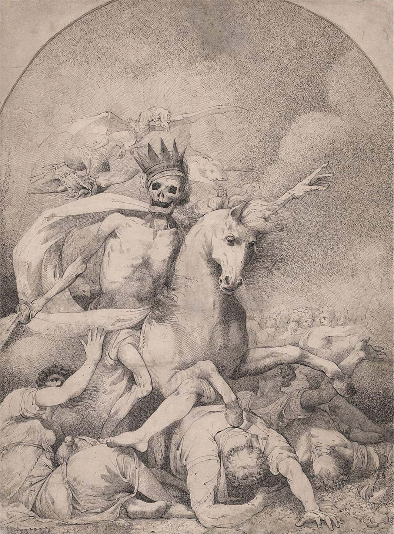 'Death On A Pale Horse' By Ham is listed (or ranked) 2 on the list The Darkest Paintings From Art History Any Goth Will Appreciate