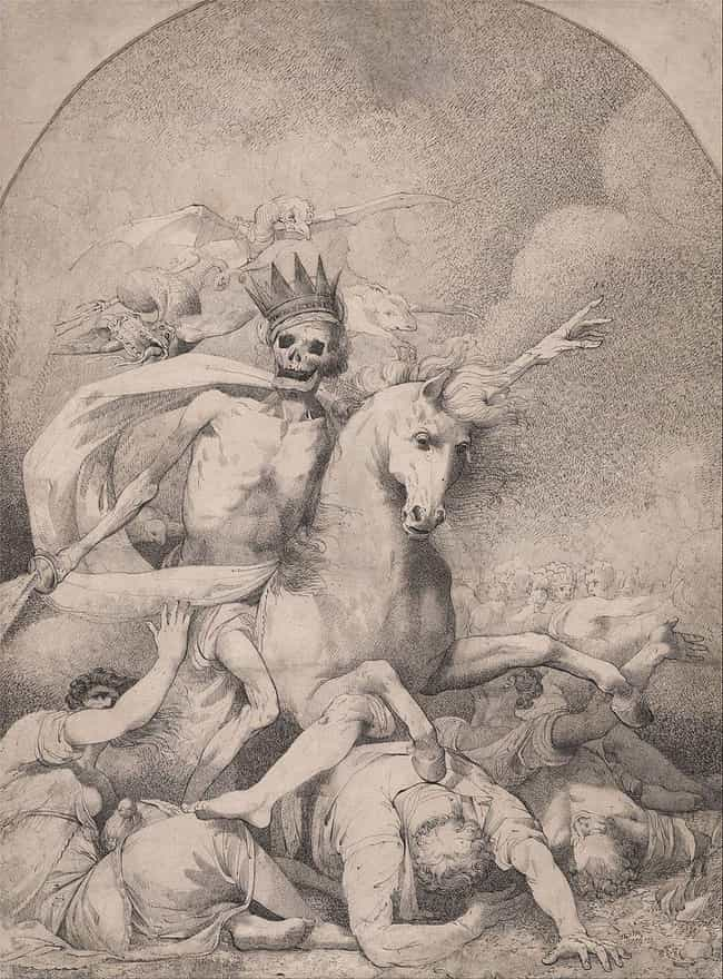 'Death On A Pale Horse' By Ham... is listed (or ranked) 3 on the list The Darkest Paintings From Art History Any Goth Will Appreciate