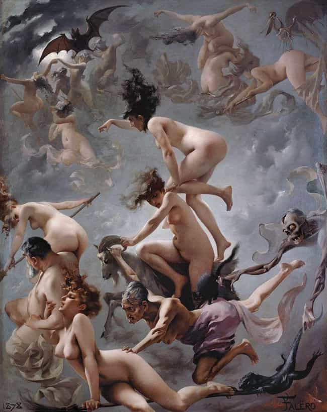 'Witches Going To Their Sabbat... is listed (or ranked) 4 on the list The Darkest Paintings From Art History Any Goth Will Appreciate