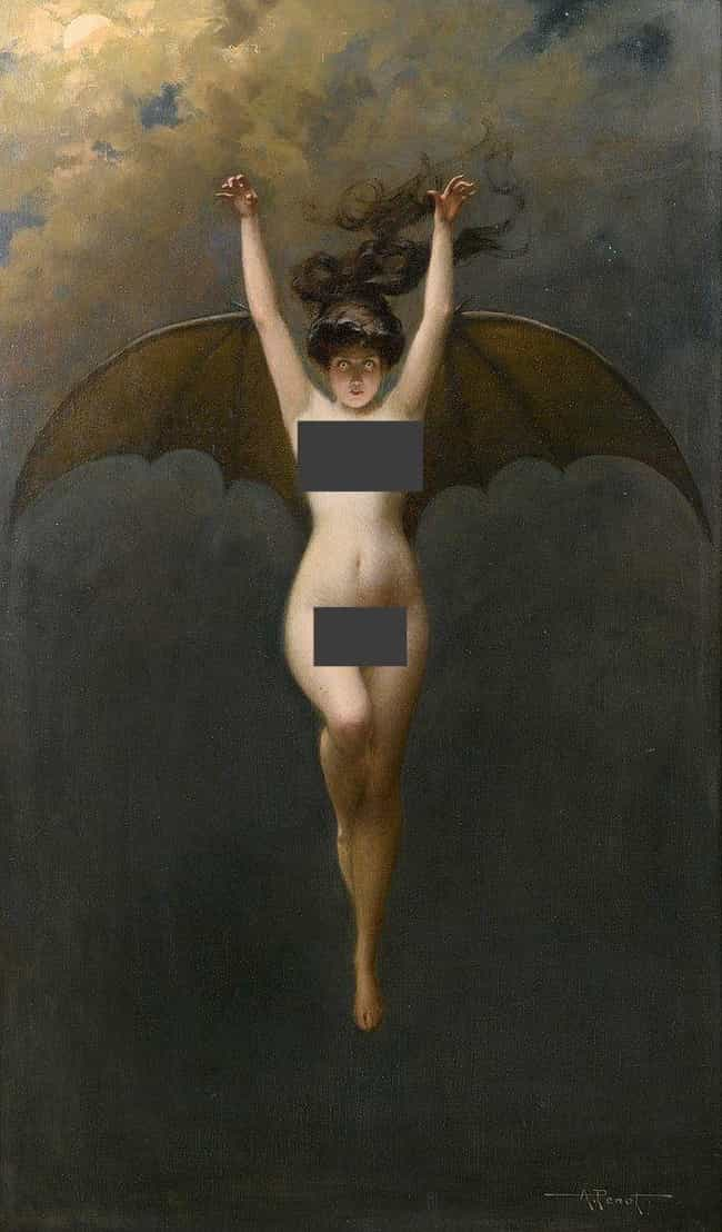'The Bat-Woman' By Alber... is listed (or ranked) 2 on the list The Darkest Paintings From Art History Any Goth Will Appreciate