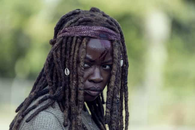Michonne And Daryl Have A Hard... is listed (or ranked) 4 on the list 'The Walking Dead' Season 9, Ep. 14, Recap: Flashbacks Reveal What Happened After Rick Disappeared