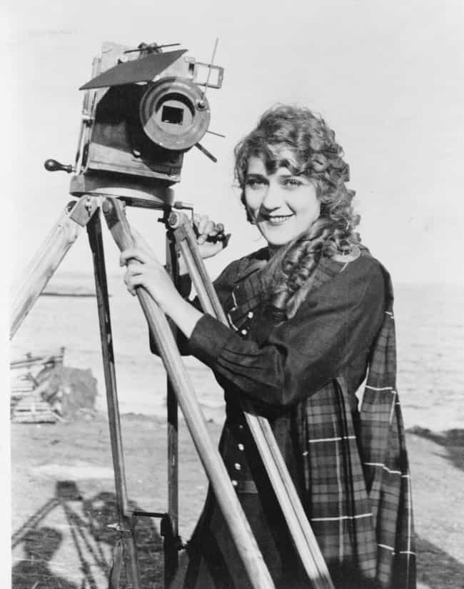 Mary Pickford Poses With A Cam... is listed (or ranked) 2 on the list 18 Rare Photos From The Golden Age Of Hollywood