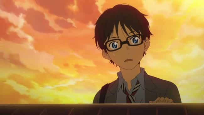 Kousei Arima - Your Lie ... is listed (or ranked) 4 on the list The 20 Best Aries Anime Characters Born March 21 - April 19