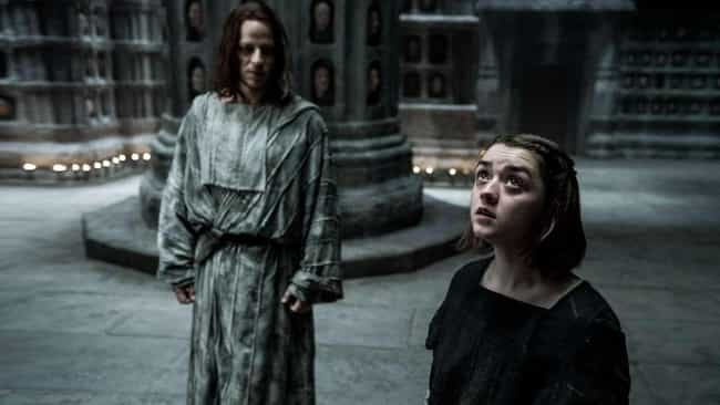 Arya Trains With The Faceless ... is listed (or ranked) 4 on the list Everything From 'Game Of Thrones' Season 5 You Need To Remember Before The Final Season